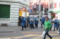 Polizei mit Gummigeschoss Fotos und Bilder