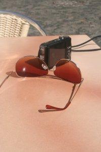 Sonnenbrille mit Digitalkamera Fotos und Bilder