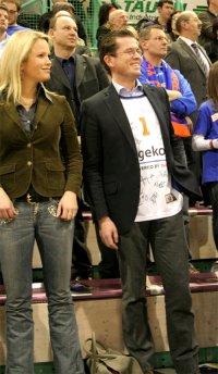 zu Guttenberg beim Basketball Fotos und Bilder